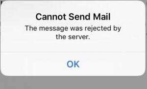 Mail versturen lukt niet?